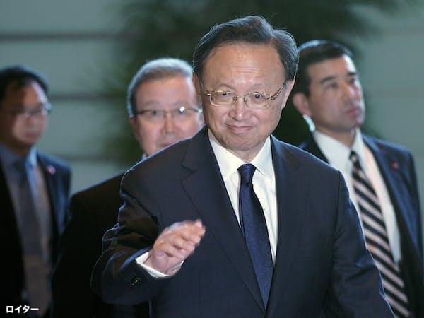 来日した中国の外交担当トップ、楊潔篪共産党政治局員=ロイター