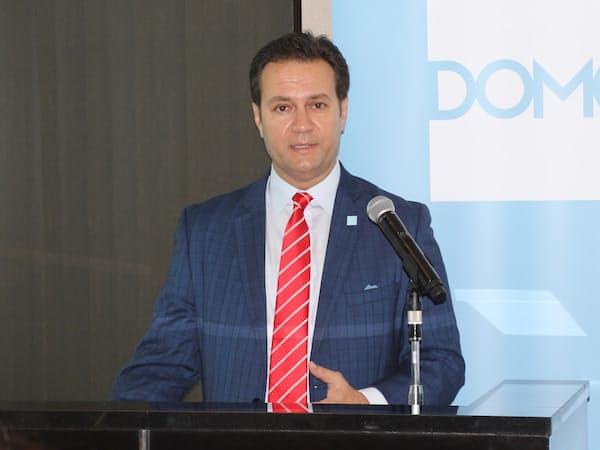 日本版サービスを発表した米ドーモのアジアパシフィック・日本地域担当ポール・ハラピン副社長