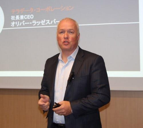 クラウド強化を発表した米テラデータのオリバー・ラッゼスバーガー社長兼最高経営責任者