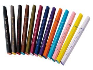 「UZU EYE OPENING LINER」(FLOWFUSHI)全14色の展開で、黄色、水色など奇抜な色も取りそろえる。