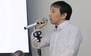 講演するパナソニックの宮崎秋弘氏(撮影:北森幸)