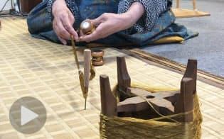 名品茶道具の「袋」を守り継ぐ 制作・修復の舞台裏
