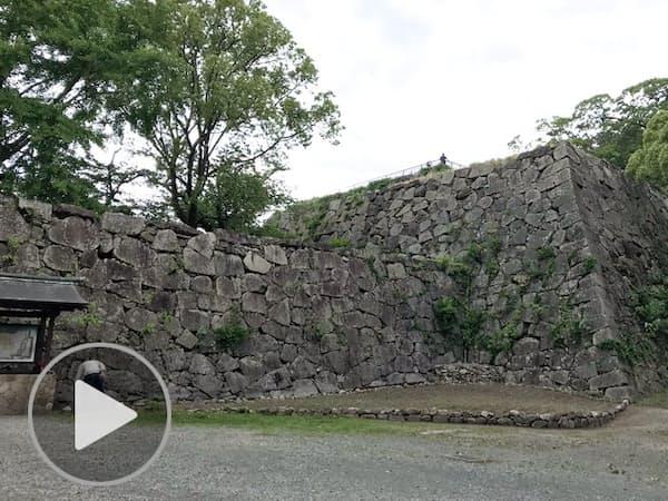 天守がない福岡城の石垣