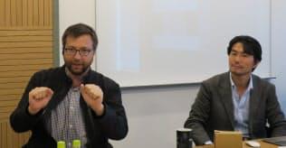 シスコメラキのトッド・ナイチンゲール氏(左)と山移雄悟氏(右)