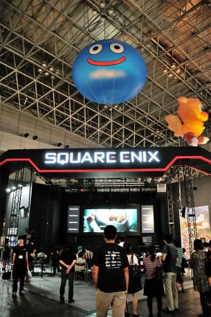 TGS2012のスクウェア・エニックスのブース。今回はイベントや映像出展が中心になっている