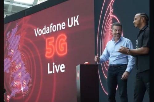 5Gサービス開始を発表した英ボーダフォン(出所:Vodafone)