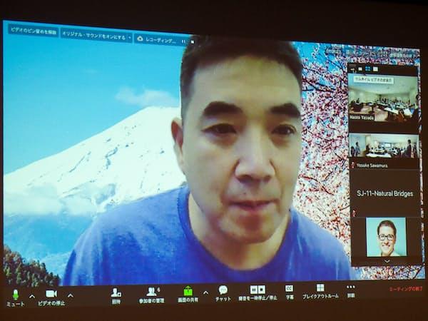 米ズーム創業者兼CEOのエリック・ヤン氏(撮影:山口健太)