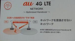 図5 「Optimized Handover」技術で、LTEから3G網への切替がスムーズに