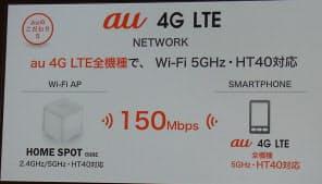 図6 家庭内での無線LAN接続サービスは150Mビット/秒に