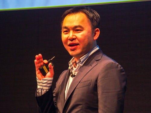 英アームの芳川裕誠IoTサービスグループデータビジネス担当バイスプレジデント(写真:山口健太)