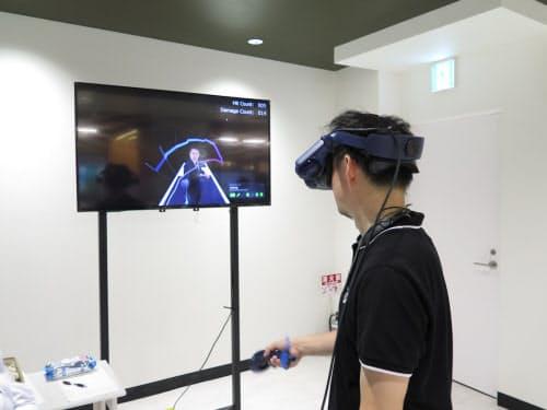 フェンシングで太田雄貴選手とバーチャル対戦できる「VRフェンシング」