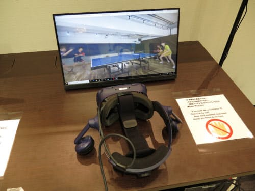 卓球の試合の様子を卓球台脇にいるかのように観戦できる「VR観戦であそべ」