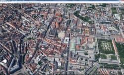 写真1 大都市の3D画像表示に対応した(写真はドイツのミュンヘン、Google発表資料より引用)