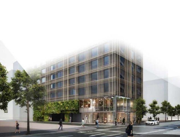 森トラストが2021年に開業する東京エディション銀座。銀座2丁目交差点からすぐの立地を射止めた