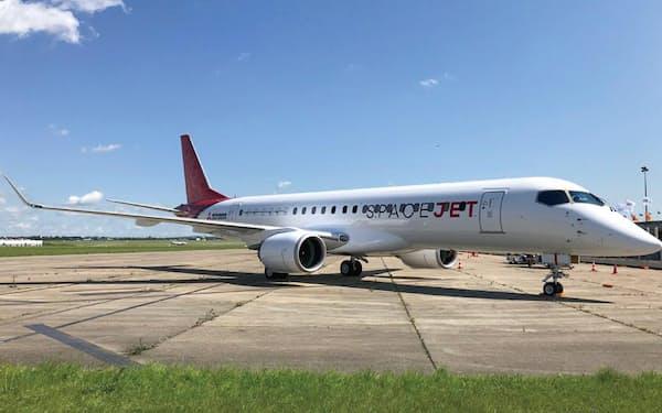 6月にパリ航空ショーで公開されたスペースジェットM90(出所:三菱航空機)