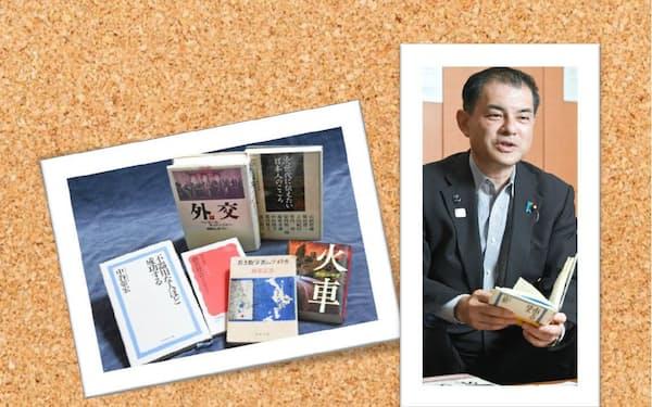 柴山氏と座右の書・愛読書