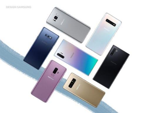 Galaxy NoteシリーズとGalaxy Sシリーズ(写真:サムスン電子のプレスリリース)