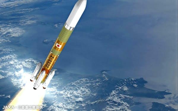 ロケット部品の本格受注は初めて(写真はイメージ。JAXA・三菱重工業提供)
