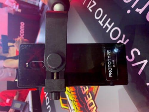 5G端末は日本メーカーが開発した試作機を利用していた(撮影:日経 xTECH)