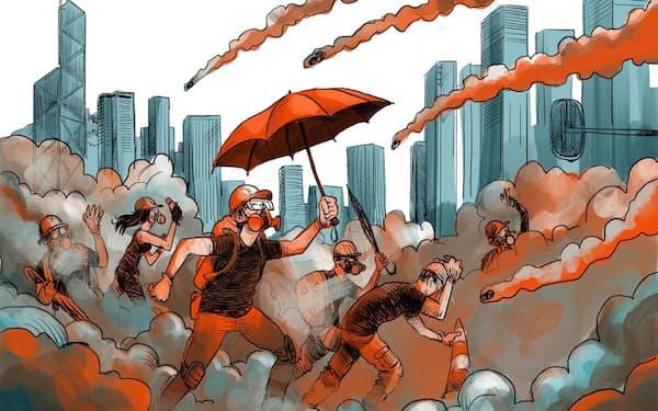 政治的な自由を求めてデモ隊の抗議活動が続いている香港が、「特別行政区」という地位を与えられた背景には、特殊な歴史があった(ILLUSTRATION BY ADOLFO ARRANZ, NATIONAL GEOGRAPHIC)