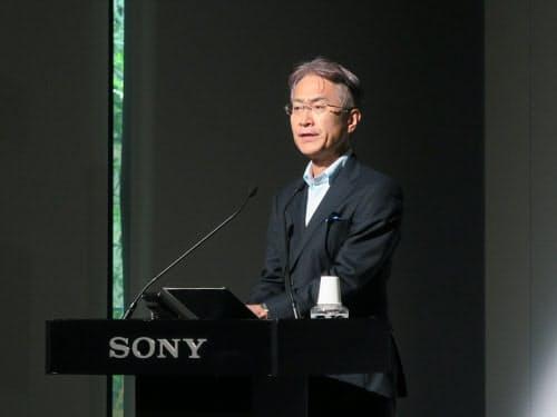ソニー社長兼CEOの吉田憲一郎氏。「リアリティ」と「リアルタイム」をキーワードとして強調した(撮影:日経 xTECH)