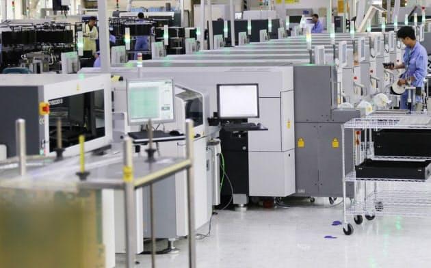 エリクソンがスマート化した中国・南京の自社工場(出所:エリクソン)
