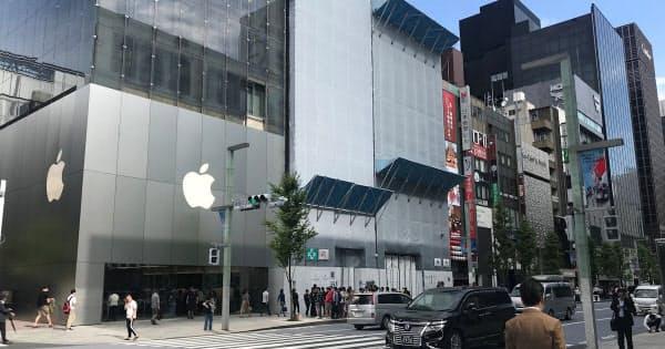 iPhone 11発売日、9月20日のApple 銀座(撮影:日経 xTECH)