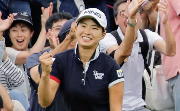 渋野「びっくり」8打差逆転V 東海女子ゴルフ