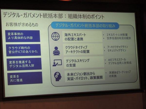 日本マイクロソフトは海外政府や自治体のデジタル化推進経験者を多く採用している(出所:日本マイクロソフト)