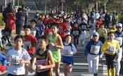 松戸市七草マラソンで小学生たちも快走