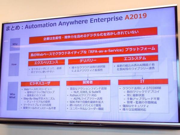 オートメーション・エニウェアが「Enterprise A2019」を発表(撮影:山口健太)