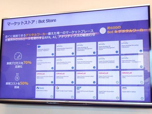 ボットのマーケットプレイス「Bot Store」(撮影:山口健太)