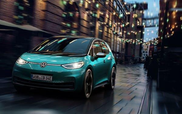 フォルクスワーゲンが11月から量産する電気自動車「ID.3」。同社を含む独メーカーの共通規格への対応が、部品メーカー受注のカギとなる(出所:フォルクスワーゲン)