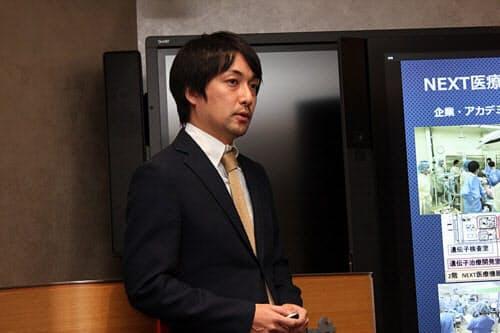 国立がん研究センター東病院大腸外科の医師である竹下修由氏。同病院の機器開発推進室とNEXT医療機器開発センターにも所属している(写真:日経 xTECH)