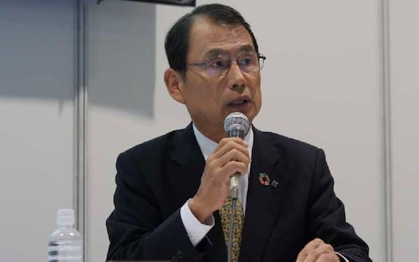 鹿島の高田悦久専務執行役員(写真:新関雅士)