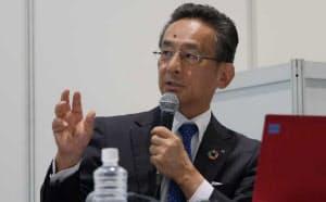 清水建設の印藤正裕常務執行役員(写真:新関雅士)