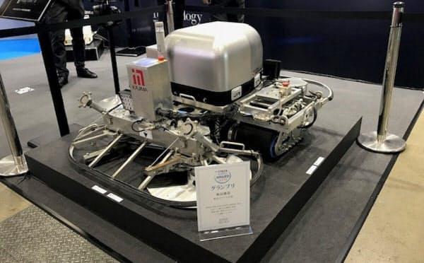 鹿島が出展した無人でコンクリートをならすロボットの実機
