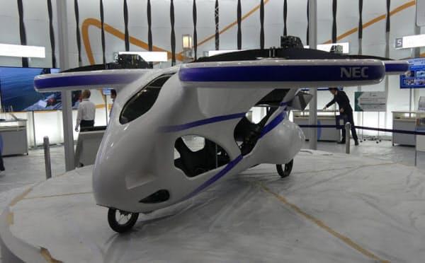 NECがCEATECに出展した空飛ぶクルマの試作機