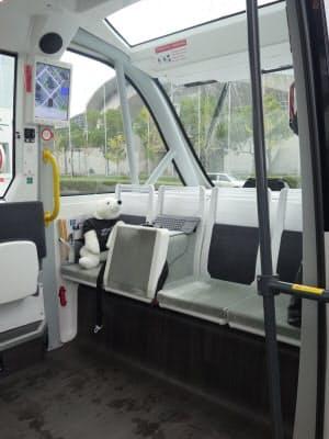車両内部の後方側の様子(撮影:日経 xTECH)