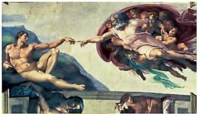 ミケランジェロ『アダムの創造』 The Bridgeman Art Libray/アフロ