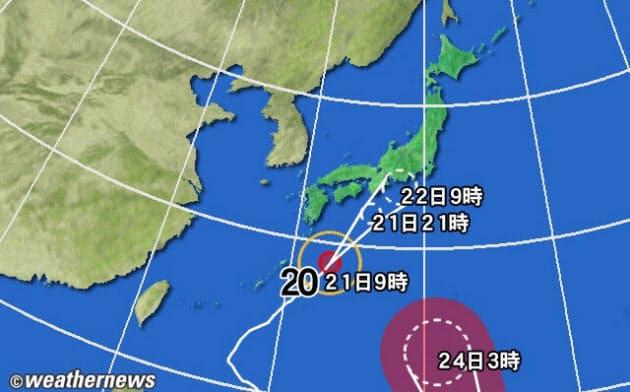 台風20・21号北上、22日にかけ大雨も 被災地は要警戒