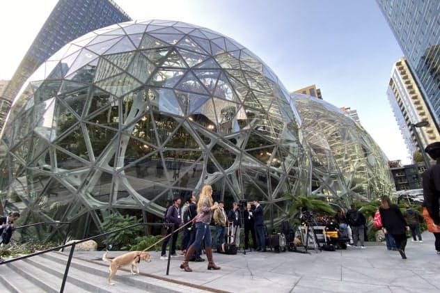9月25日に発表会が行われた米シアトルのアマゾン本社隣にある「The Spheres」