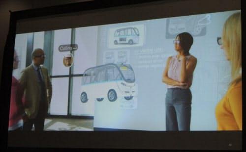 複数人がXRグラスを使ってバーチャルに集まり、企画会議を行うイメージ