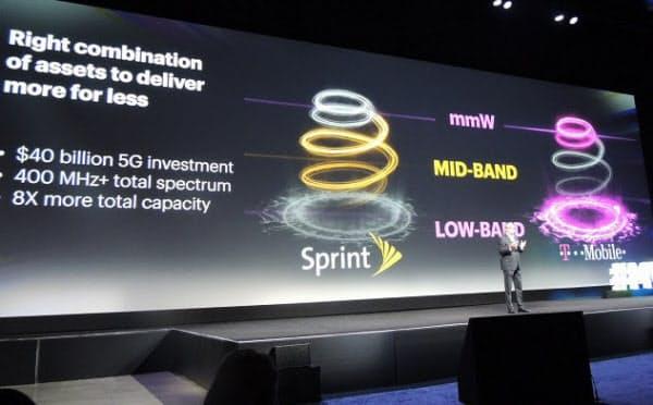 MWCロスに登場した米スプリントビジネスのヤン・ゲルドマッハー社長。スプリントとTモバイルの周波数は組み合わせると相性がいいという