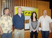 レリックエンターテインメントの中心メンバー。左から2番目がスタジオマネジャーのジョナサン・ドゥデズウェル氏