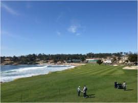 週末は子供達とペブルビーチでゴルフ観戦。シリコンバレーから車で1時間半位の場所にある(筆者撮影)