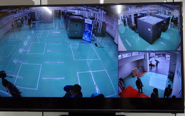 試験施設のネットワークカメラの映像。異常が発生すればすぐに分かる(写真:日経 xTECH)