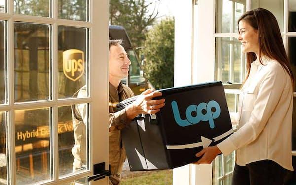 プラスチックごみの削減を実現する「Loop(ループ)」のサービス。繰り返し使えるソフトケースに入れて商品を届ける