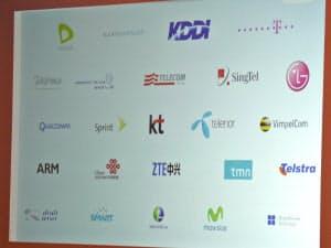 Firefox OSの開発に参加している企業