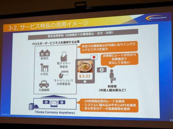 外貨での価格表示を容易にするサービスHCAの活用イメージ(撮影:山口健太)